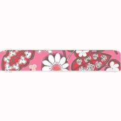 Flower Floral Red Blush Pink Small Bar Mats by Alisyart