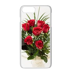 Red Roses Roses Red Flower Love Apple Iphone 7 Plus White Seamless Case by Amaryn4rt