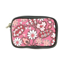 Flower Floral Red Blush Pink Coin Purse by Alisyart
