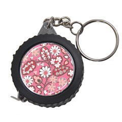 Flower Floral Red Blush Pink Measuring Tapes by Alisyart