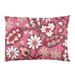 Flower Floral Red Blush Pink Pillow Case (two Sides) by Alisyart