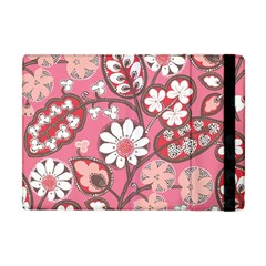 Flower Floral Red Blush Pink Apple Ipad Mini Flip Case by Alisyart