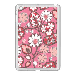 Flower Floral Red Blush Pink Apple Ipad Mini Case (white) by Alisyart