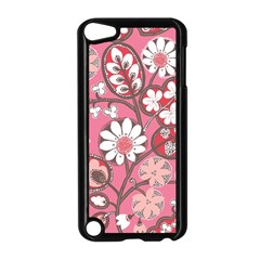 Flower Floral Red Blush Pink Apple Ipod Touch 5 Case (black) by Alisyart