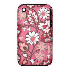 Flower Floral Red Blush Pink Iphone 3s/3gs by Alisyart