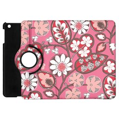 Flower Floral Red Blush Pink Apple Ipad Mini Flip 360 Case by Alisyart