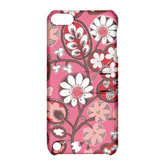Flower Floral Red Blush Pink Apple Ipod Touch 5 Hardshell Case With Stand by Alisyart