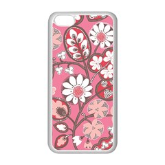 Flower Floral Red Blush Pink Apple Iphone 5c Seamless Case (white) by Alisyart
