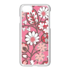 Flower Floral Red Blush Pink Apple Iphone 7 Seamless Case (white) by Alisyart