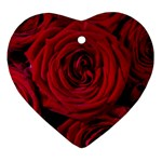 Roses Flowers Red Forest Bloom Ornament (Heart)