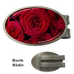 Roses Flowers Red Forest Bloom Money Clips (Oval)