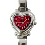 Roses Flowers Red Forest Bloom Heart Italian Charm Watch