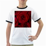 Roses Flowers Red Forest Bloom Ringer T-Shirts