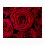 Roses Flowers Red Forest Bloom Small Glasses Cloth