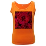 Roses Flowers Red Forest Bloom Women s Dark Tank Top