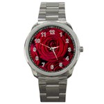 Roses Flowers Red Forest Bloom Sport Metal Watch