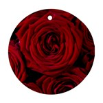 Roses Flowers Red Forest Bloom Round Ornament (Two Sides)