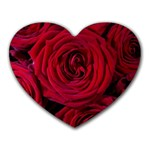 Roses Flowers Red Forest Bloom Heart Mousepads