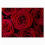 Roses Flowers Red Forest Bloom Large Glasses Cloth (2-Side)