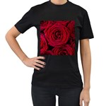Roses Flowers Red Forest Bloom Women s T-Shirt (Black)