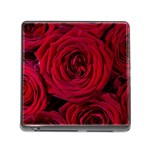 Roses Flowers Red Forest Bloom Memory Card Reader (Square)