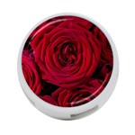 Roses Flowers Red Forest Bloom 4-Port USB Hub (One Side)