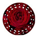 Roses Flowers Red Forest Bloom Ornament (Round Filigree)