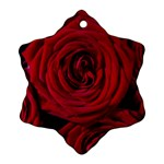 Roses Flowers Red Forest Bloom Snowflake Ornament (Two Sides)