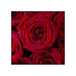 Roses Flowers Red Forest Bloom Acrylic Tangram Puzzle (4  x 4 )