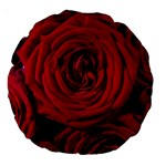 Roses Flowers Red Forest Bloom Large 18  Premium Round Cushions