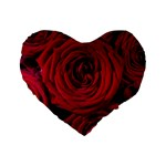 Roses Flowers Red Forest Bloom Standard 16  Premium Heart Shape Cushions