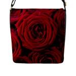 Roses Flowers Red Forest Bloom Flap Messenger Bag (L)