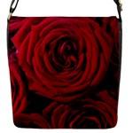 Roses Flowers Red Forest Bloom Flap Messenger Bag (S)