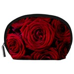 Roses Flowers Red Forest Bloom Accessory Pouches (Large)