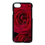 Roses Flowers Red Forest Bloom Apple iPhone 7 Seamless Case (Black)