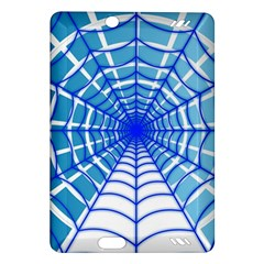 Cobweb Network Points Lines Amazon Kindle Fire Hd (2013) Hardshell Case by Amaryn4rt