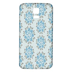 Flower Floral Rose Bird Animals Blue Grey Study Samsung Galaxy S5 Back Case (white) by Alisyart