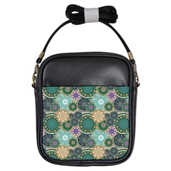 Flower Sunflower Floral Circle Star Color Purple Blue Girls Sling Bags by Alisyart