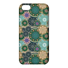 Flower Sunflower Floral Circle Star Color Purple Blue Apple Iphone 5c Hardshell Case by Alisyart