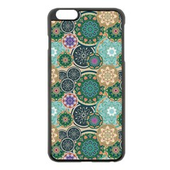 Flower Sunflower Floral Circle Star Color Purple Blue Apple Iphone 6 Plus/6s Plus Black Enamel Case by Alisyart
