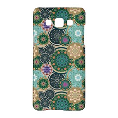 Flower Sunflower Floral Circle Star Color Purple Blue Samsung Galaxy A5 Hardshell Case  by Alisyart