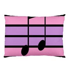 Music Gender Pride Note Flag Blue Pink Purple Pillow Case by Alisyart
