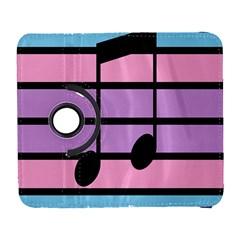 Music Gender Pride Note Flag Blue Pink Purple Galaxy S3 (flip/folio) by Alisyart