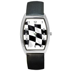 Flag Chess Corse Race Auto Road Barrel Style Metal Watch by Amaryn4rt