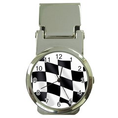 Flag Chess Corse Race Auto Road Money Clip Watches by Amaryn4rt