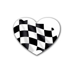 Flag Chess Corse Race Auto Road Heart Coaster (4 Pack)  by Amaryn4rt