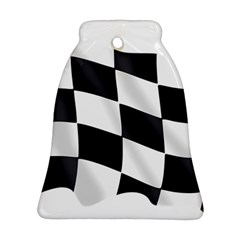 Flag Chess Corse Race Auto Road Bell Ornament (two Sides) by Amaryn4rt