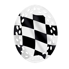 Flag Chess Corse Race Auto Road Oval Filigree Ornament (two Sides) by Amaryn4rt