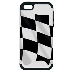 Flag Chess Corse Race Auto Road Apple Iphone 5 Hardshell Case (pc+silicone) by Amaryn4rt