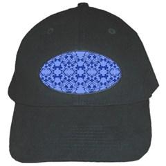 Floral Ornament Baby Boy Design Black Cap by Amaryn4rt